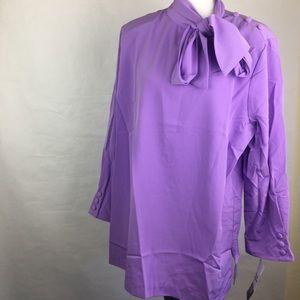 Purple Vintage Necktie Blouse